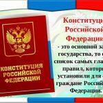 Основной закон государства — Конституция